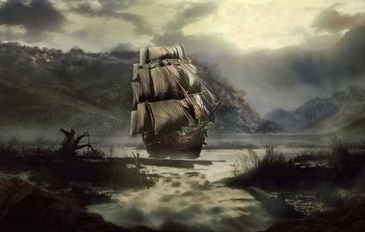 Шхуна-призрак Песков Гудвина