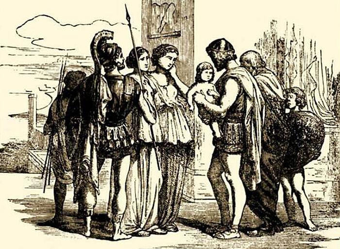 Спартанка отдает сына государству