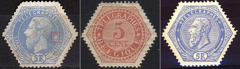 Бельгийские телеграфные марки