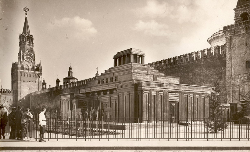 Спасская башня и мавзолей Ленина, 1925 год