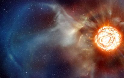 Ролик, иллюстрирующий процесс взрыва сверхновой звезды
