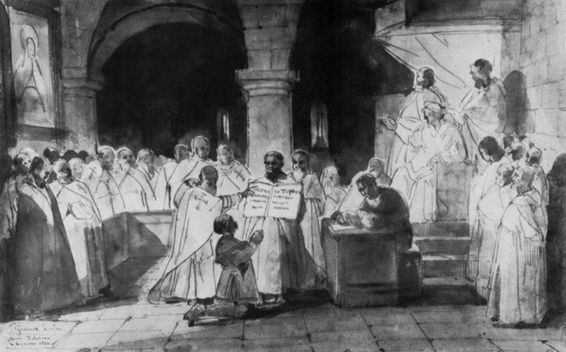 Прием Жака де Моле в орден храмовников