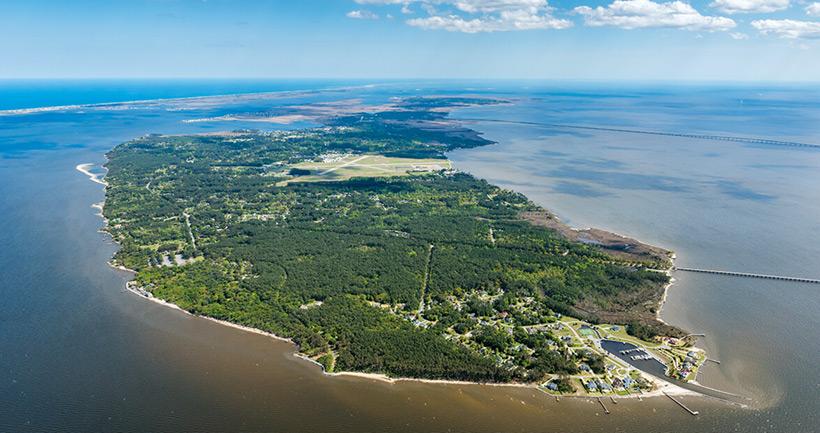 Остров Роанок, вид из самолёта