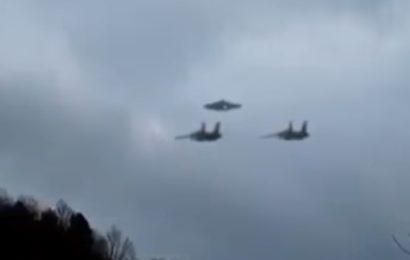 Два истребителя F-16 эскортировали НЛО в США в 2011 году