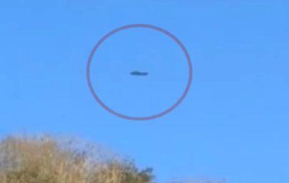 Съёмка приземления НЛО в Бретани (Франция) в 2014 году