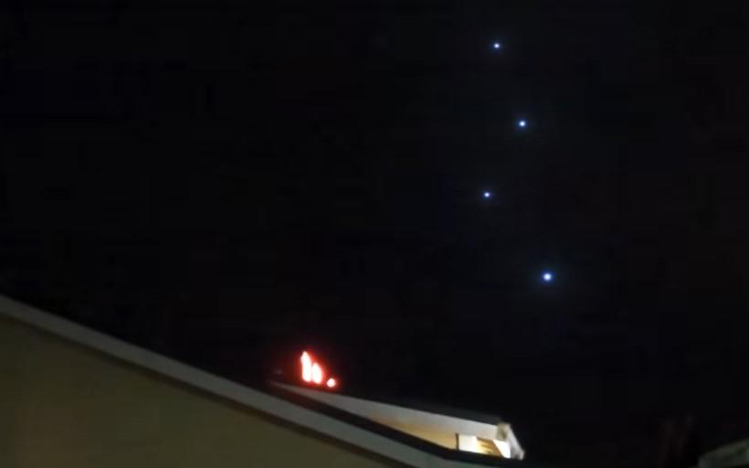 Группа НЛО была замечена над Оклендом в 2013 году