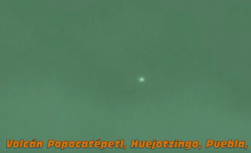 Очередной объект засняли рядом с вулканом Попокатепетль в 2014 году