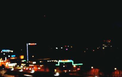 Треугольный НЛО с красными огнями над Хельсинки