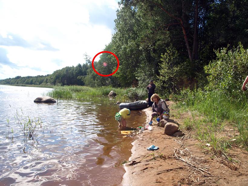 Орбы на реке Вуокса в 2013 году