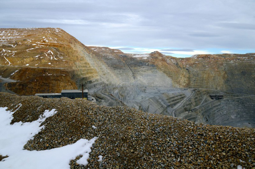 Медный карьер Бингем-Каньон в Юте, США