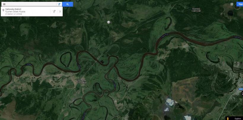 Река Тобол в Сибири