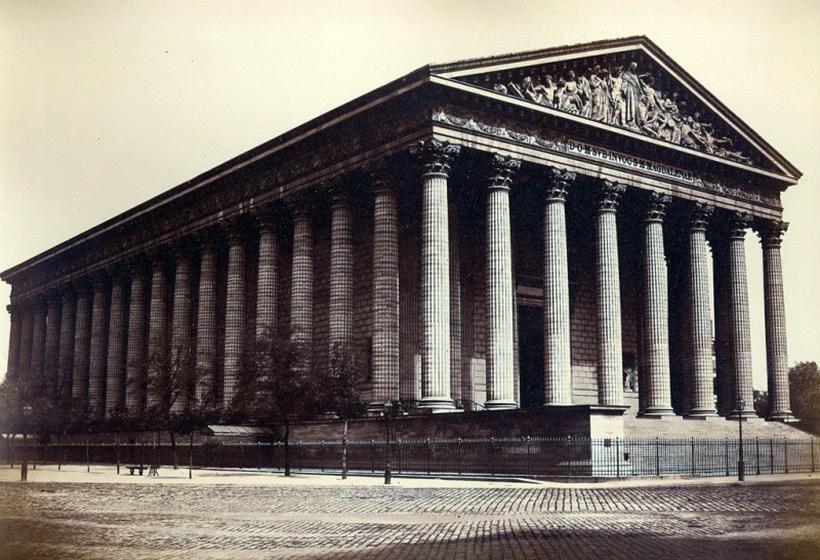 Париж. Церковь Мадлен. 1860 год