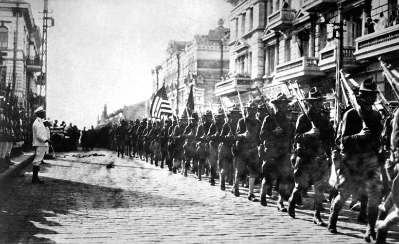Владивосток, Россия. Американские войска во Владивостоке в 1922