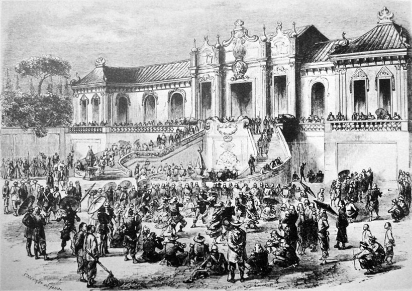 Looting of the Old Summer Palace by Anglo-French forces in 1860 during the Second Opium War