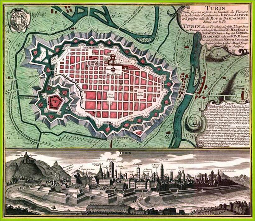 План Турина в 1799 году