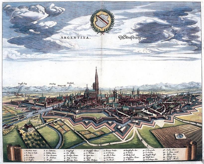 Страсбург в 1644 году