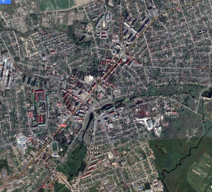 Слуцк, спутниковое фото