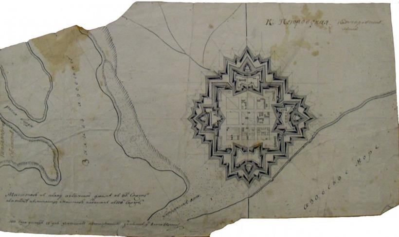 План Петровской крепости