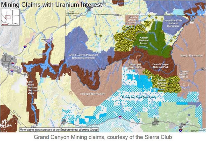Урановые разработки возле Гранд Каньона должны быть запрещены