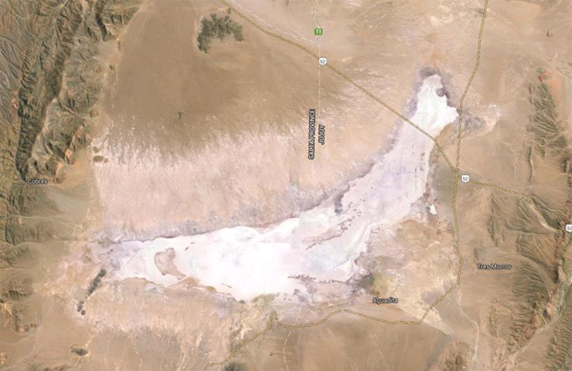 Соленное озеро Salinas Grandes