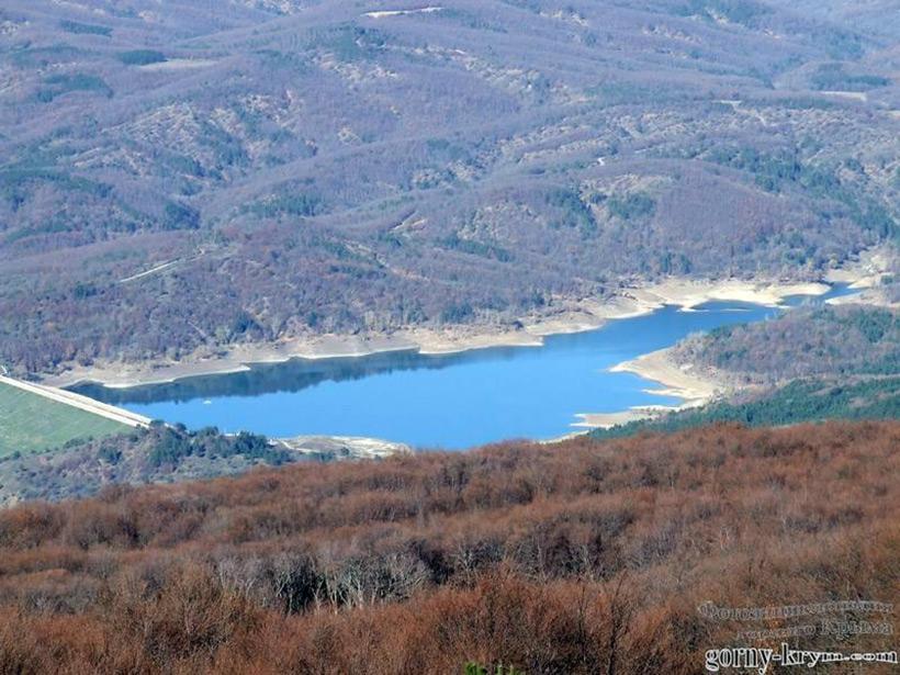 Счастливенское водохранилище в Крыму