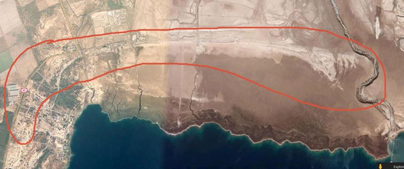 Подпирающая дамба Мёртвого моря