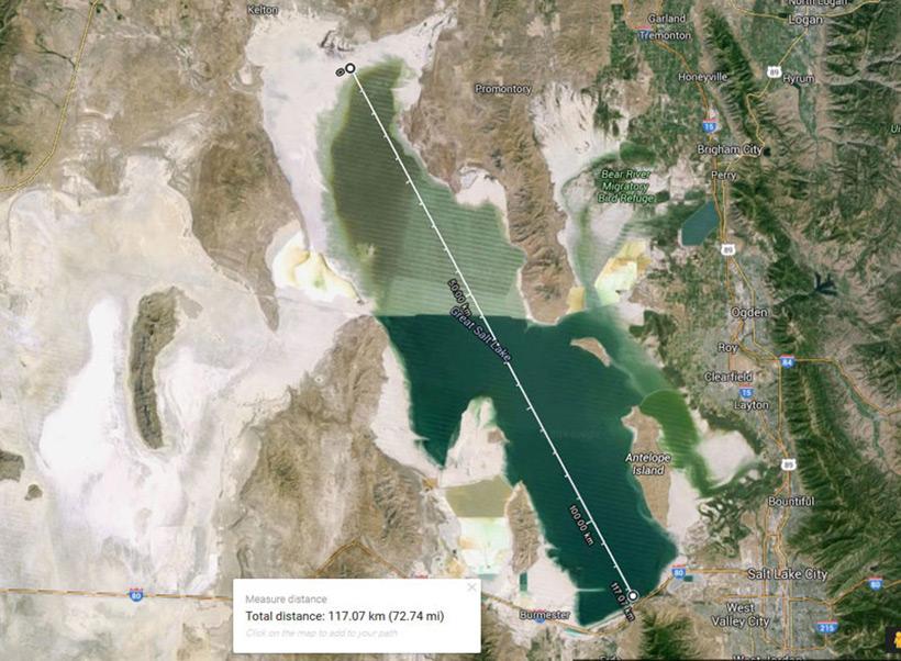 Great Salt Lake (Великое соленное озеро), США