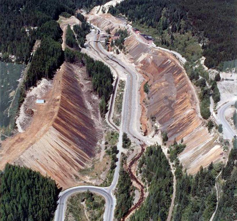Рудник Mark Creek до озеленения - рефорестизации