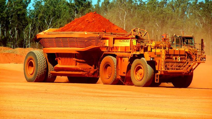 Rio Tintos Bauxite Mine at Andoom, Australia