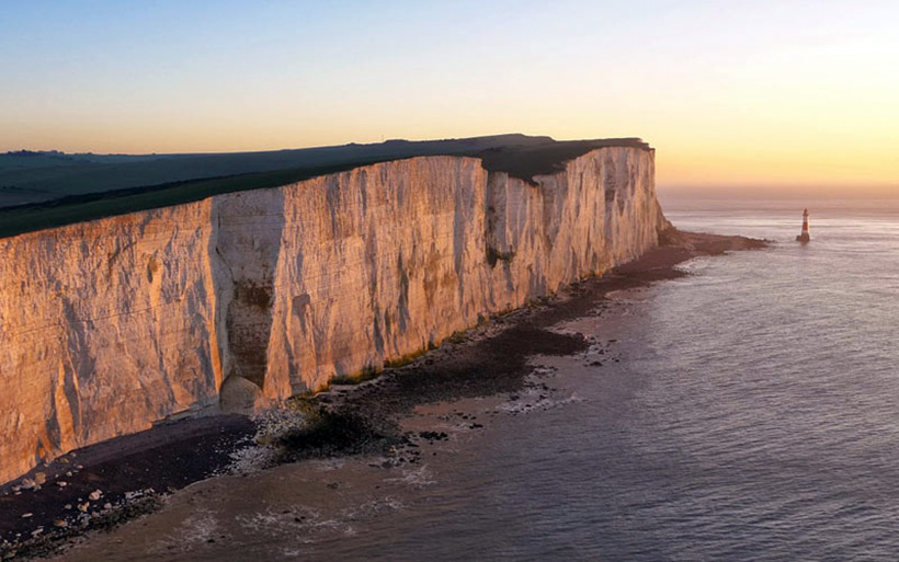 Скалы Beachy Head Cliffs в Великобритании