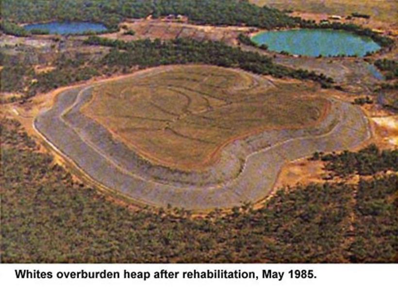 Рекультивированный отвал уранового рудника