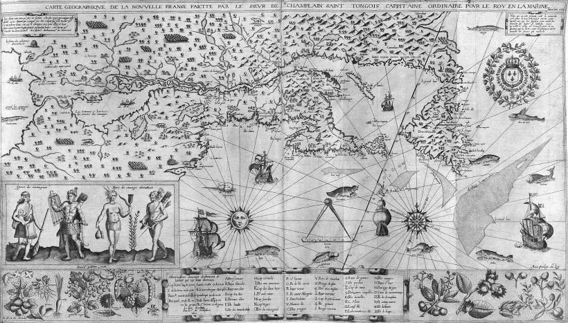 Карта Новой Франции, 1613 год