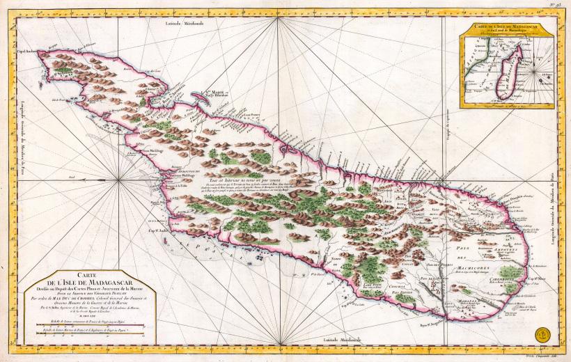 Карта Мадагаскара, XVIII век