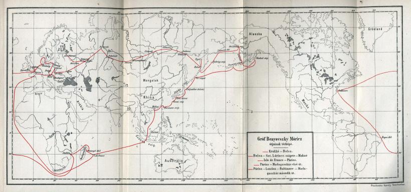 Карта странствий Морица Беневского