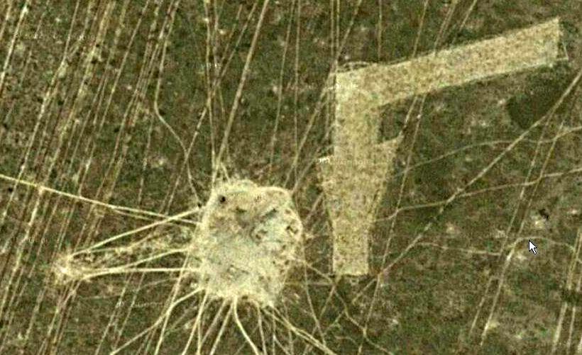 Символ стрелки на дне Аральского моря
