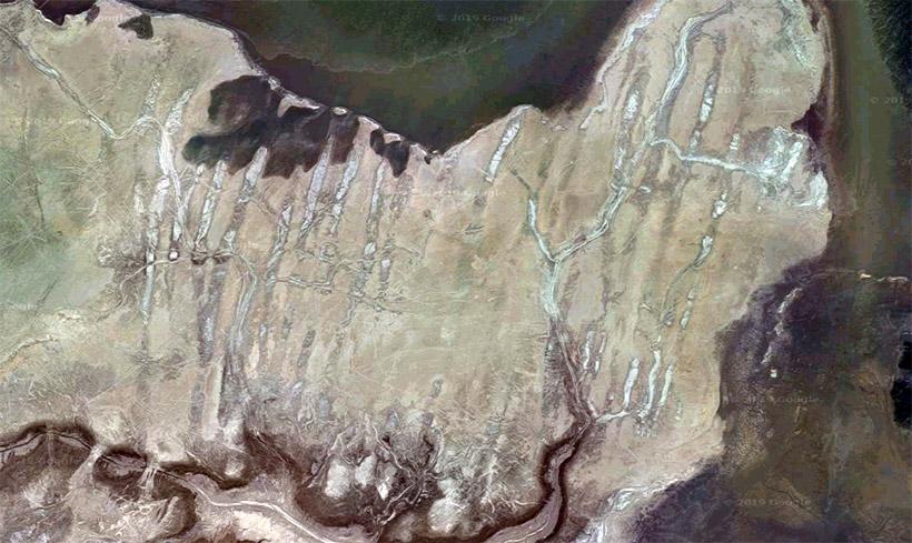 Борозды на дне Аральского моря