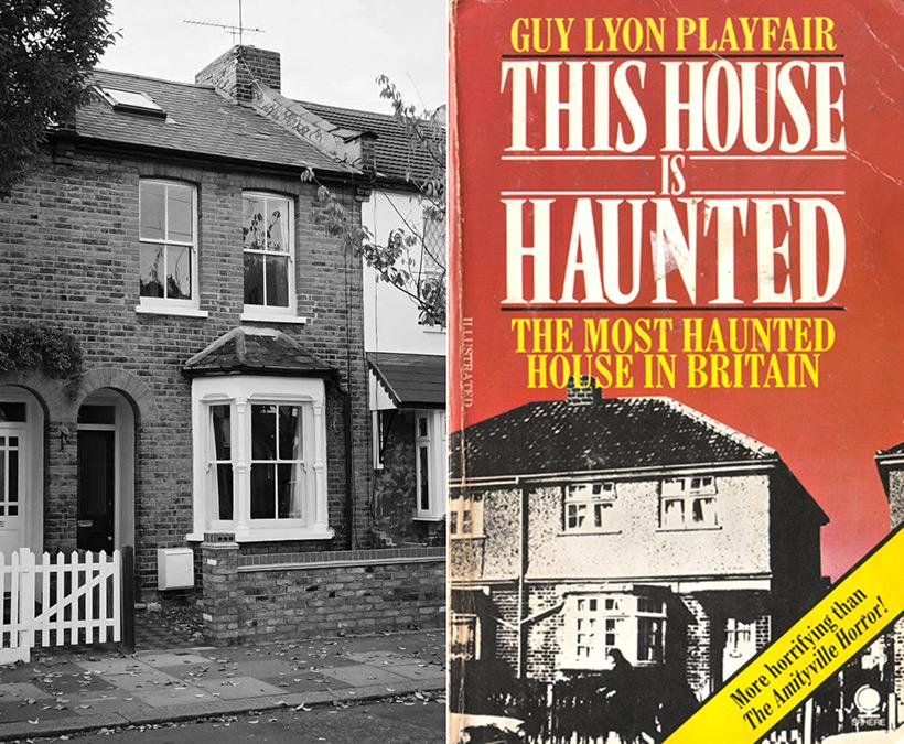 Дом на Зелёной улице 284 и обложка книги «Этот дом одержим»