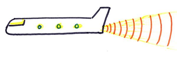 НЛО в форме фюзеляжа самолёта без крыльев