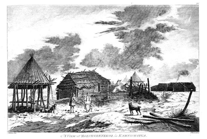 Большерецкий острог на Камчатке