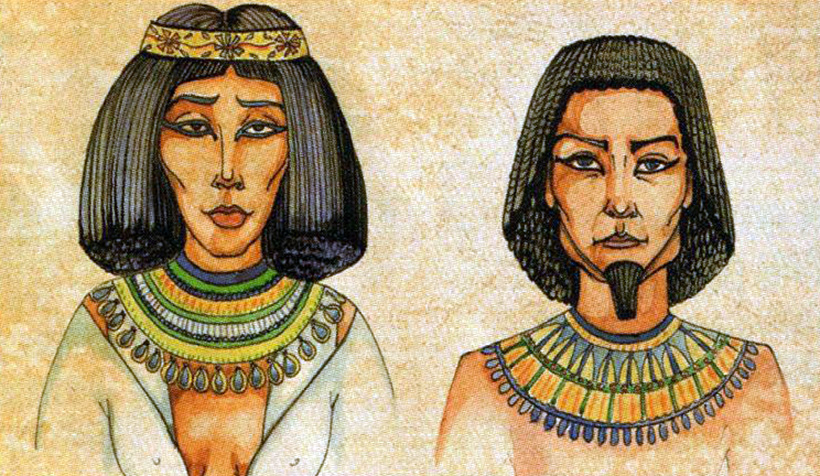 Древние египтяне в париках