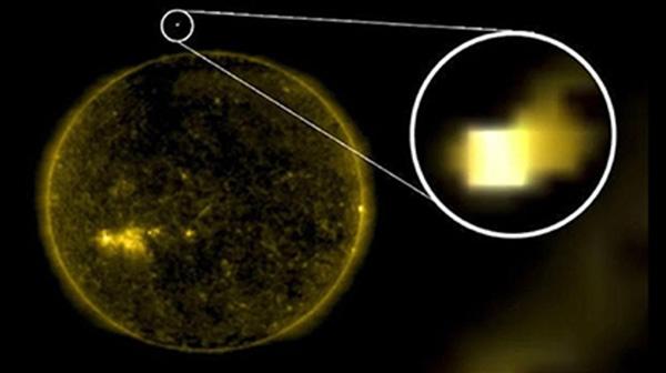 НЛО возле Солнца