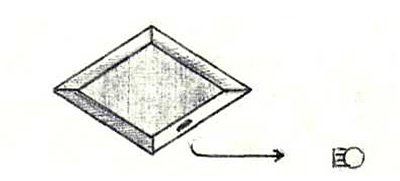 Носитель в форме ромба